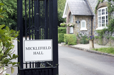 The entrance to Micklefield Hall