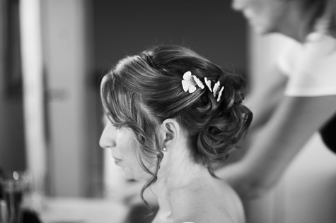 Wedding hair style for Emma - photo by Pearl Pictures