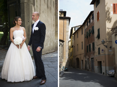 Before the wedding ceremony in Lucca, Italy - photo by Pearl Pictures