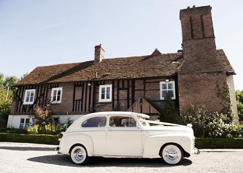 Classic Car outside Newland Hall, Essex