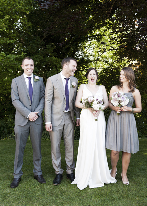 The Happy Couple with Bestman and Bridesmaid