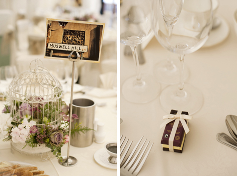Table centre piece and wedding favours