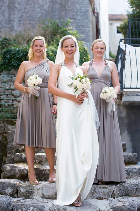 Bride and bridesmaids, Montenegro, photography by Pear Pictures