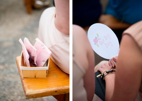 Detail shots of guests favours