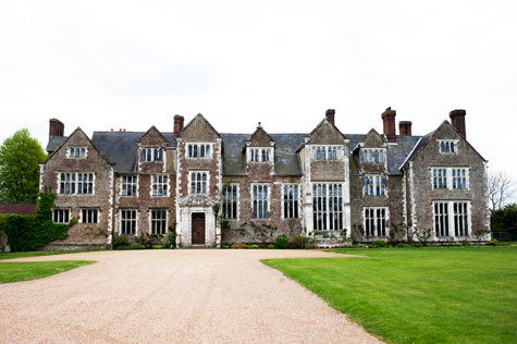 Exterior shot of the front of Loseley Park