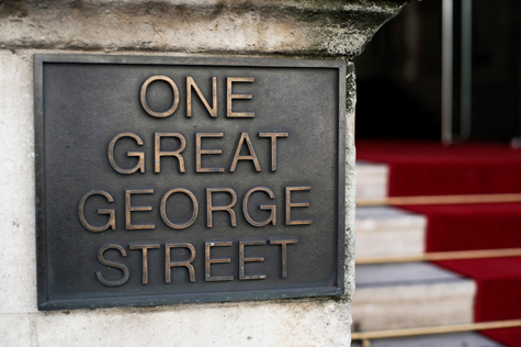 Signage of 'One Great George Street'