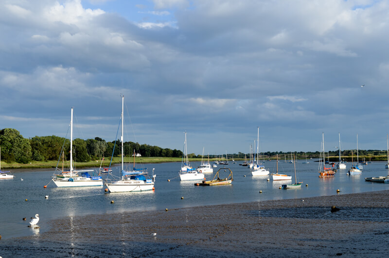 Boats the River Deben, Suffolk by Jemma Watts Photography