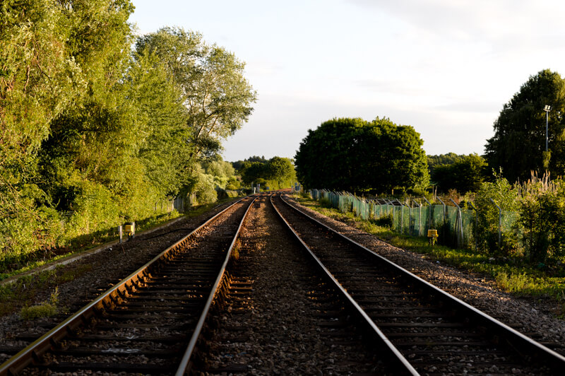 Train tracks by the River Deben, Suffolk by Jemma Watts Photography