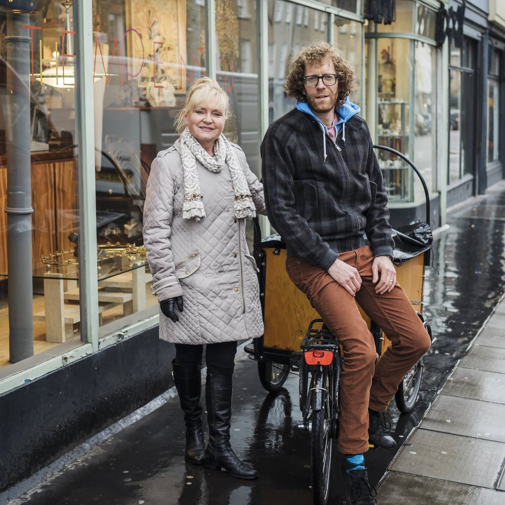 Caroline Cotton and Nathan Eddy of FoodCycle Marylebone