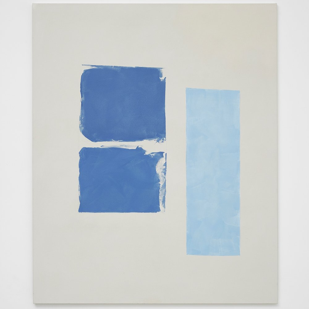 Two Blues and Light Blue, 2017, by Peter Joseph