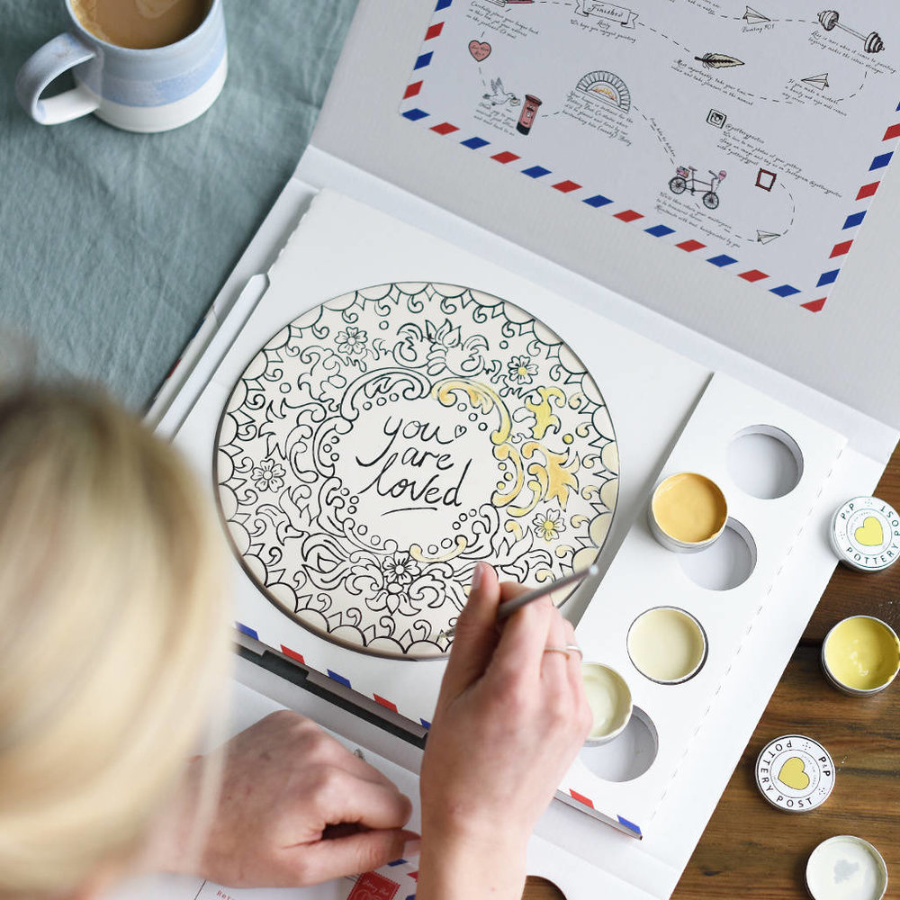 original_you-are-loved-pottery-painting-set_painting in progress.jpg