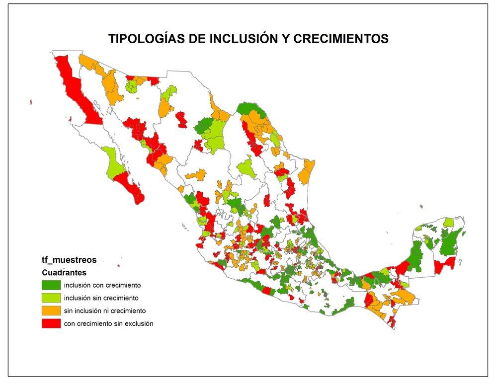 Mapa generado en el GeoLab  con la georreferenciación de encuestas realizadas sobre las relaciones virtuosas y predatorias del crecimiento urbano.