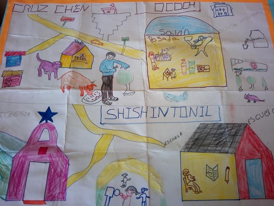 Mapa vivo de Shishintonil, en el Municipio de Tenejapa, Chiapas.
