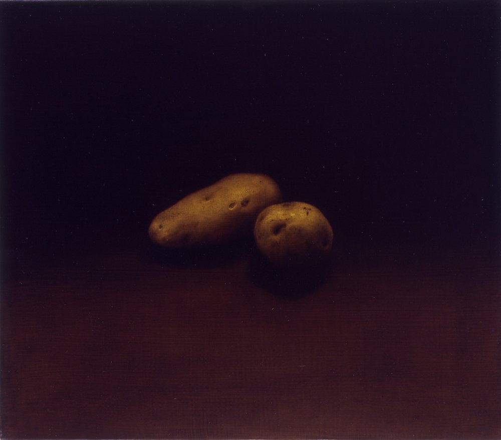 Two Potatoes, 1992, 14x16, oil/linen
