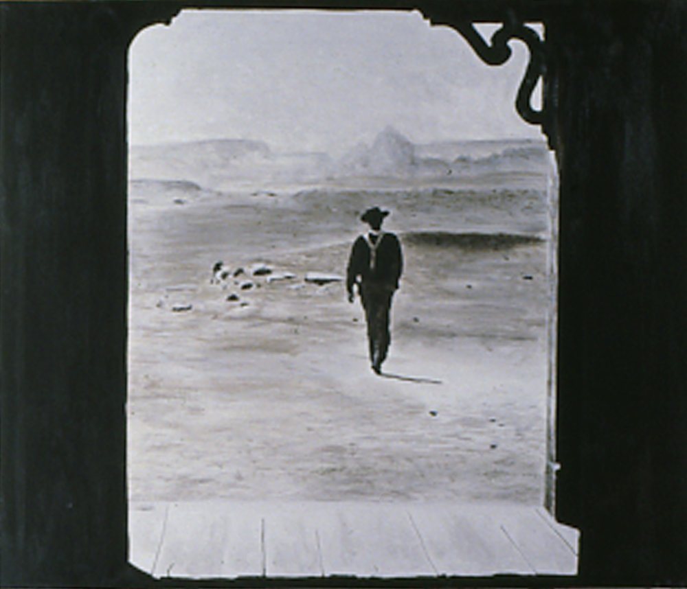 After John Ford, 1984, 30x36, acrylic/c