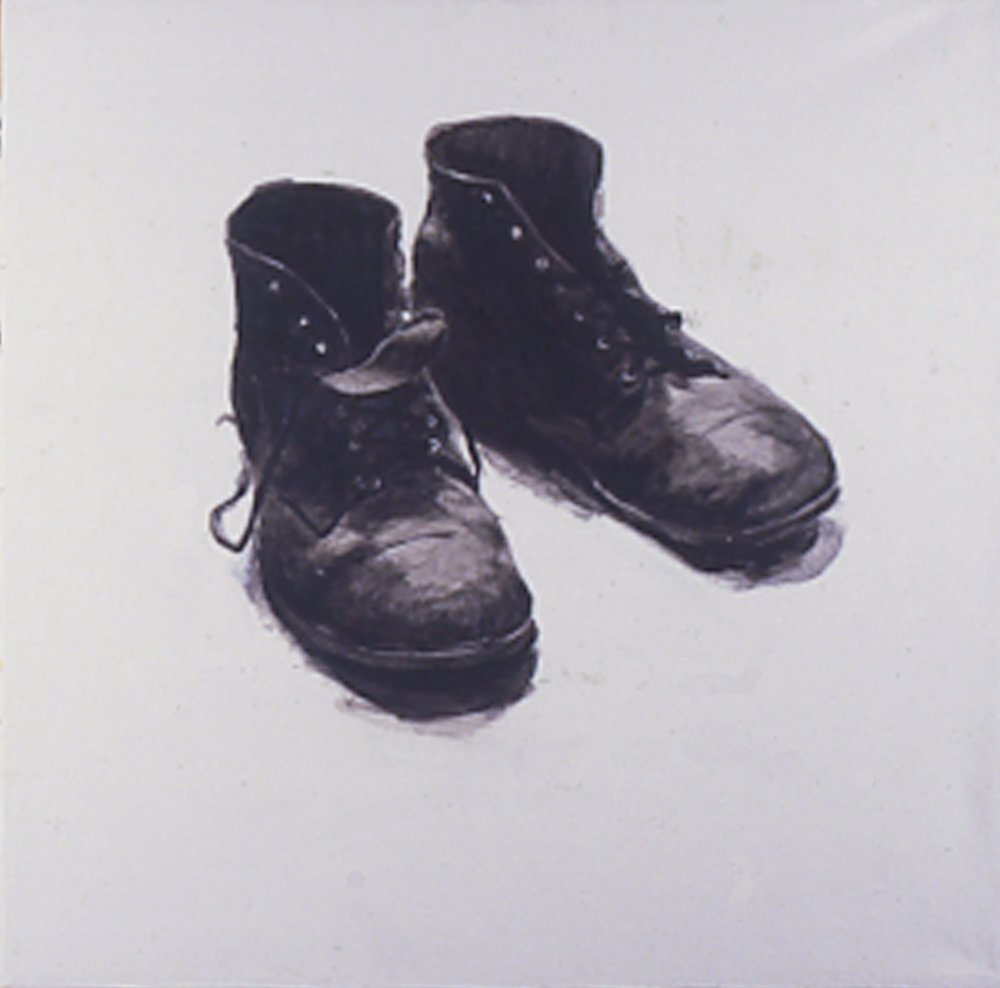 After Walker Evans, 1984, 30x30, Acrylic/c