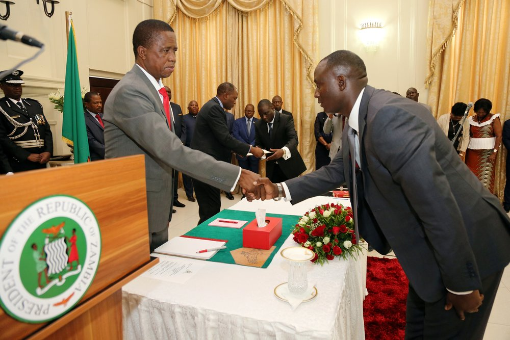 President-Edgar-Lungu-greets-Mr-Richard-Musukwa-Minister-of-Mines-and-Minerals-Development-during-the-Swearing-at-State-house5398.jpg