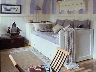 Day Bed Laqueada en Blanco