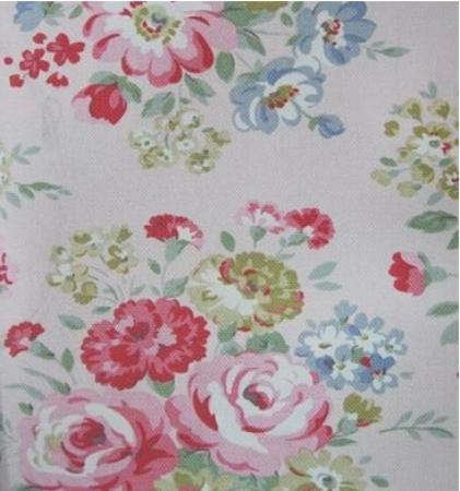 Tela flores fondo rosado
