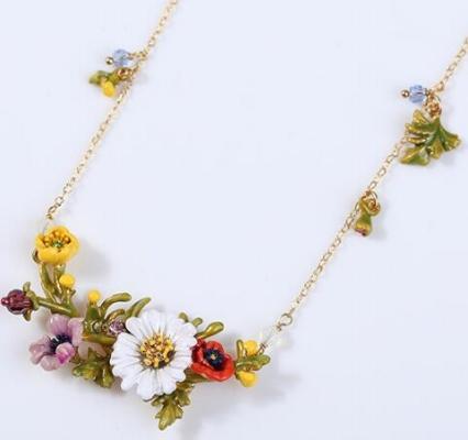 Collar les fleurs flores