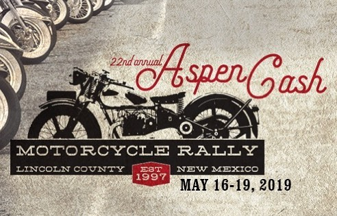 Save the date for the 22nd AspenCash Motorcycle Rally. We'll see you in May.  #goldenaspenrally #aspencashrally #motorcyclerally #exploreruidoso #ruidoso #newmexico #motorcycle
