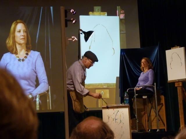 Artist Carl Samson portrait demonstration