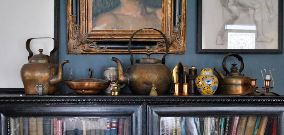 Bookshelf and Artist Carl Samson connoisseurship