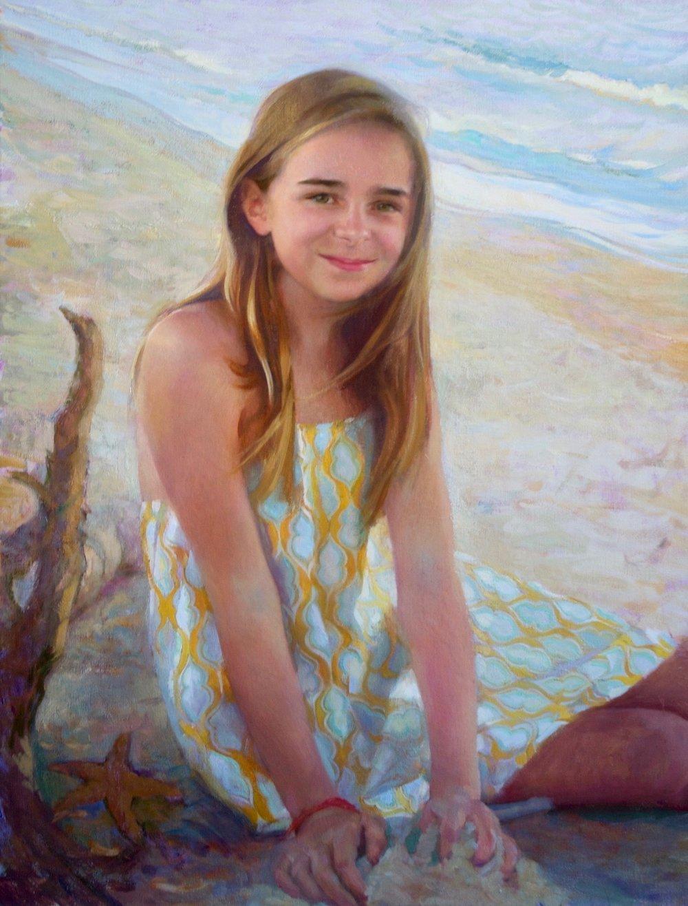 Oil Portrait, Beachside