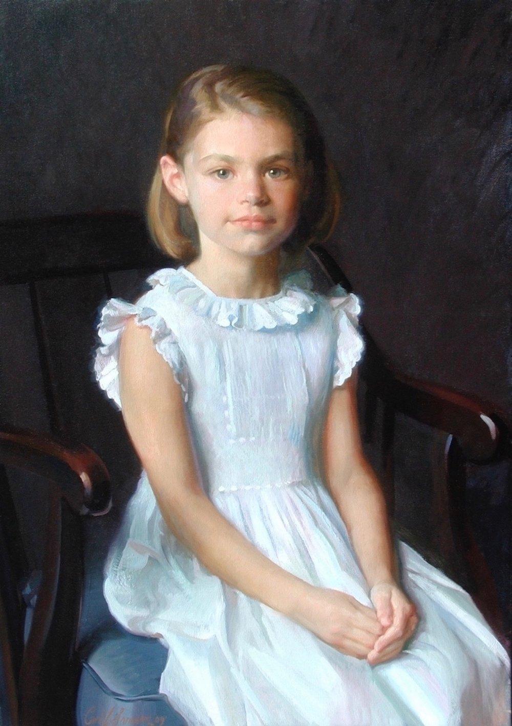 Oil Portrait, Girl in Blue