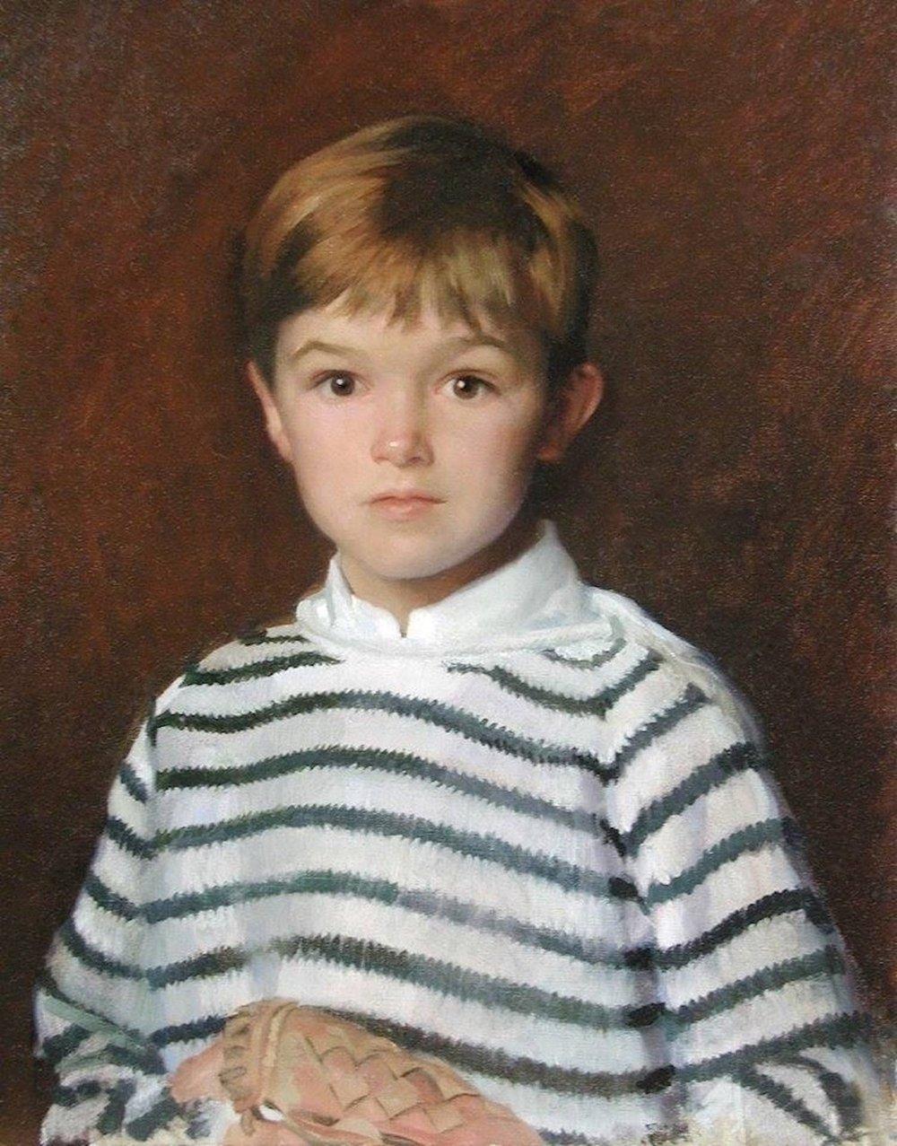Oil Portrait, Boy with Mitt