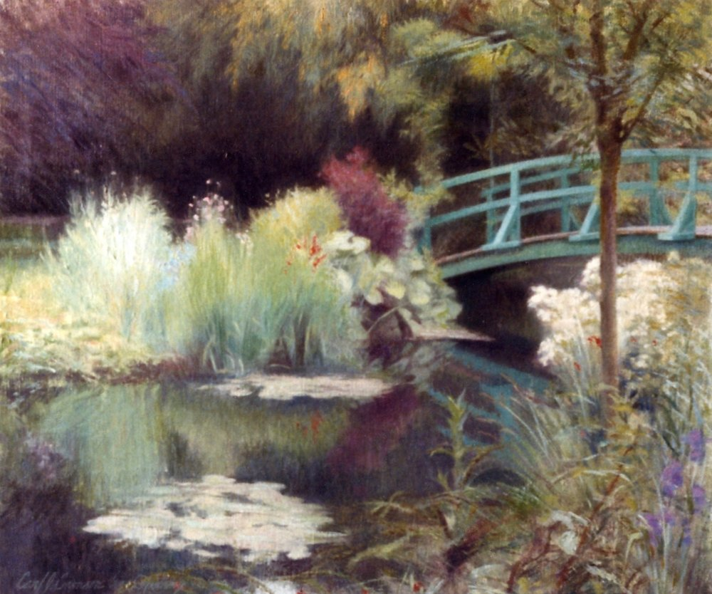 """The Japanese Bridge, Giverny , 20"""" x 24"""", oil on linen canvas,  sold,  private collection"""