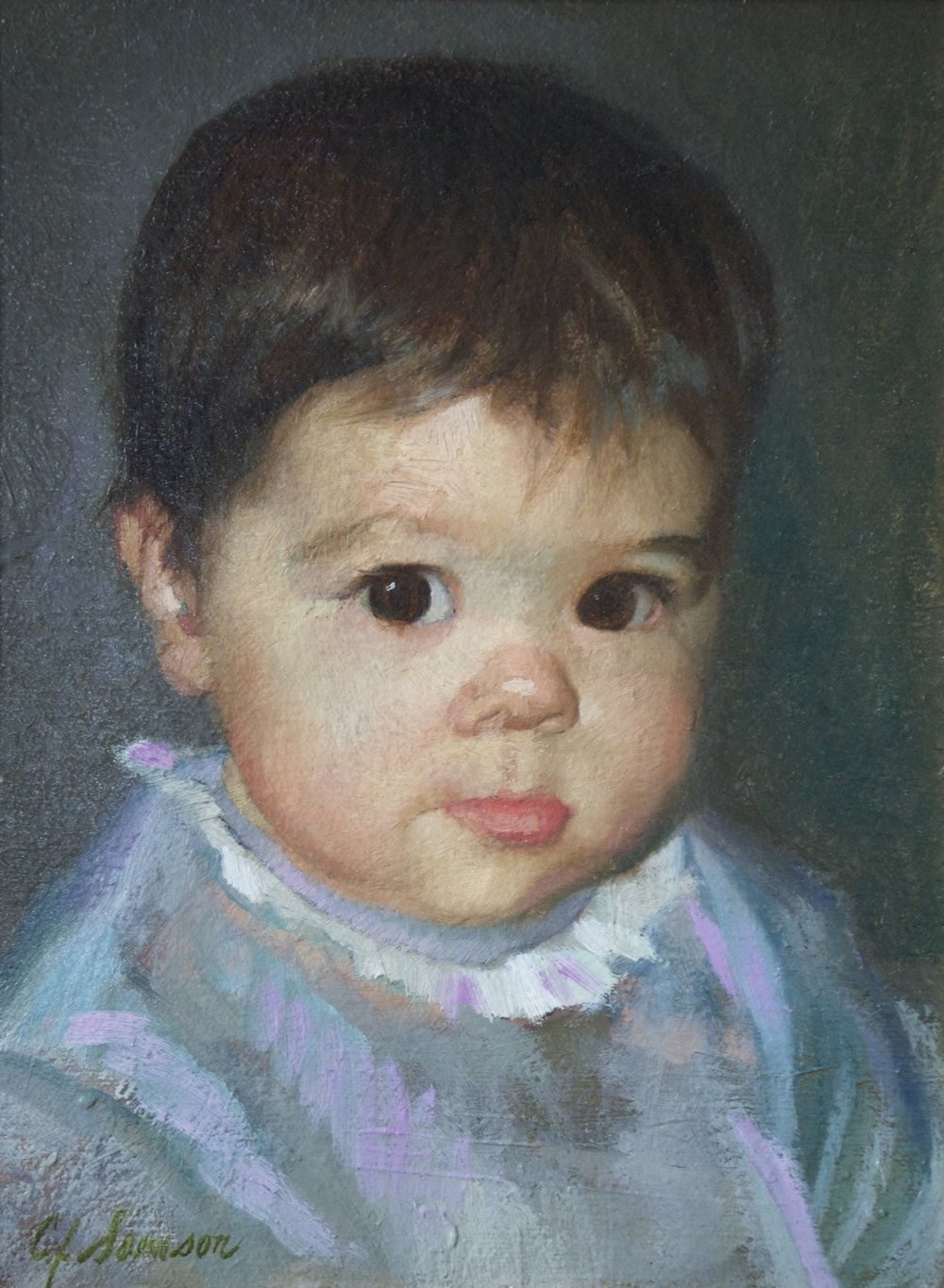 "The Artist's Infant Daughter , 12"" x 9"", oil on linen canvas. Painted for and featured in the movie   Artworks."