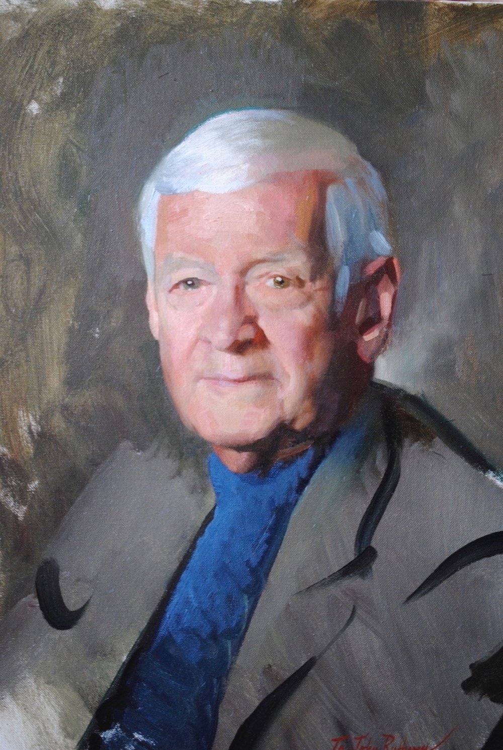 Alla Prima Portrait, John Ruthven
