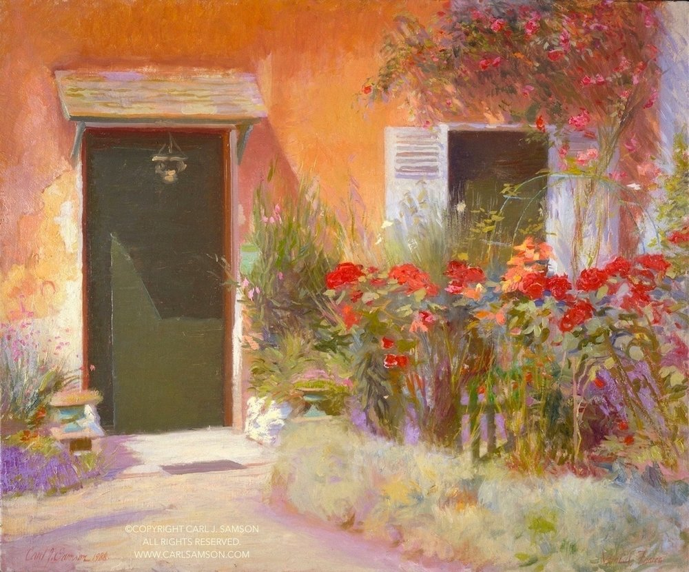 """Old Woman's House, Vetheuil , 20"""" x 24"""", oil on linen canvas,  sold,  private collection"""