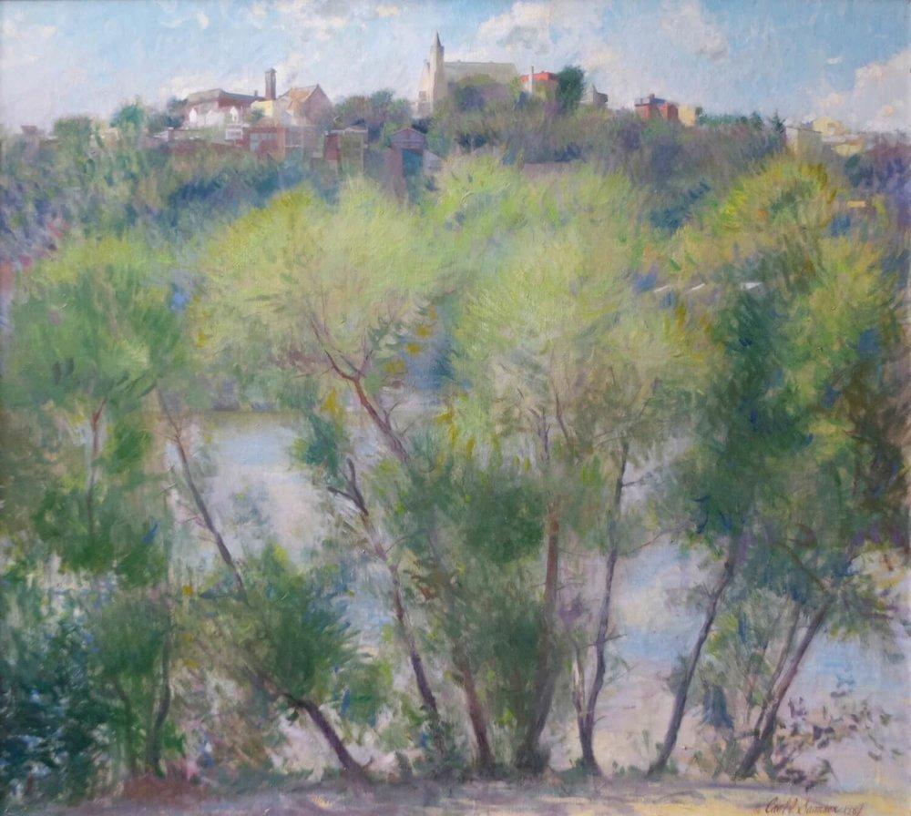"""Mt. Adams from Kentucky , 34"""" x 38"""", oil on linen canvas"""