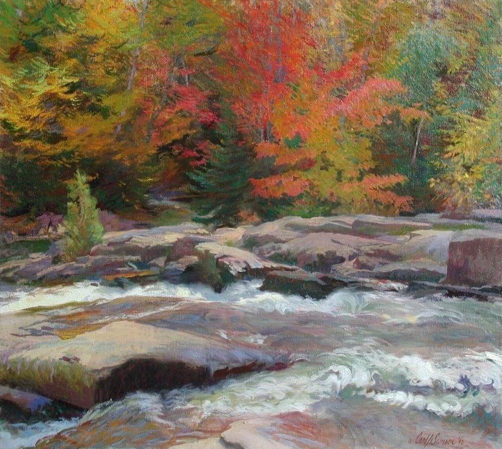 "Mauricie Park, Quebec , 34"" x 38"", oil on linen canvas"
