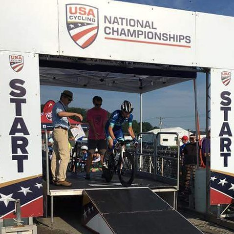 @pattyostl starting the Time Trail in Louisville at the National Championships.