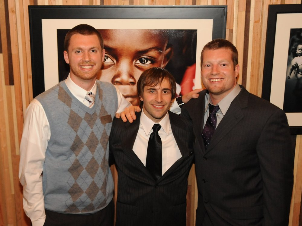 CfC Founders at the 2008 first annual fundraiser: Nick Tosti, Elijah Grindstaff and Mike McEvoy