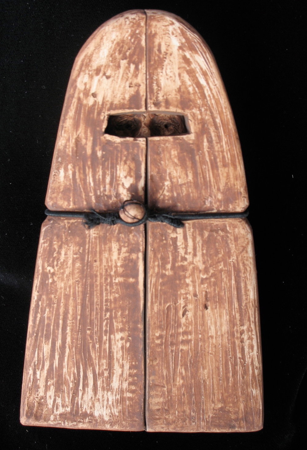 """The Burka"", terra cotta, 5.5""H x 2.75""W x .5""D, 2011"