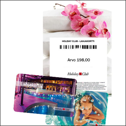 Holiday Club  majoituslahjakortti, arvo 198,00 €