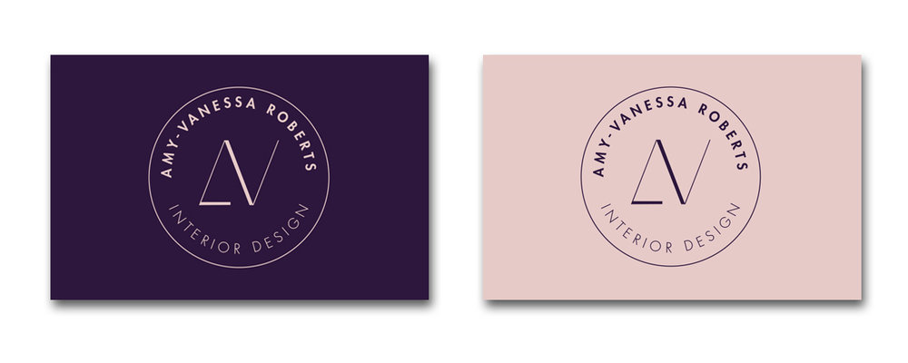 business cards interior designer