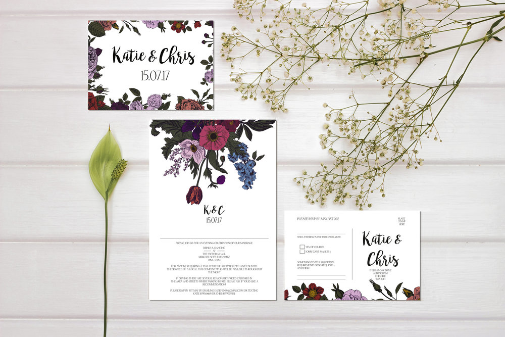 vintage theme wedding invites