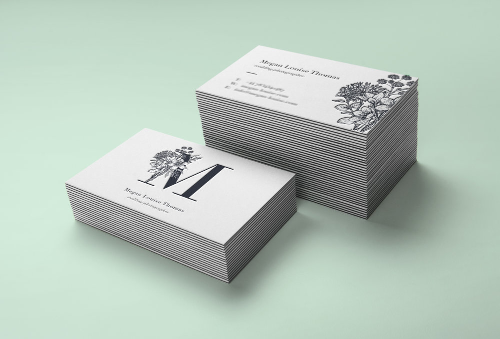 business cards for wedding photographer