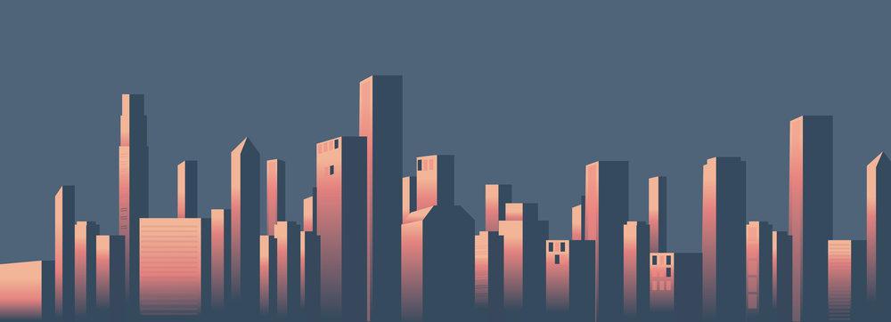 Sing a long cinema illustrative city