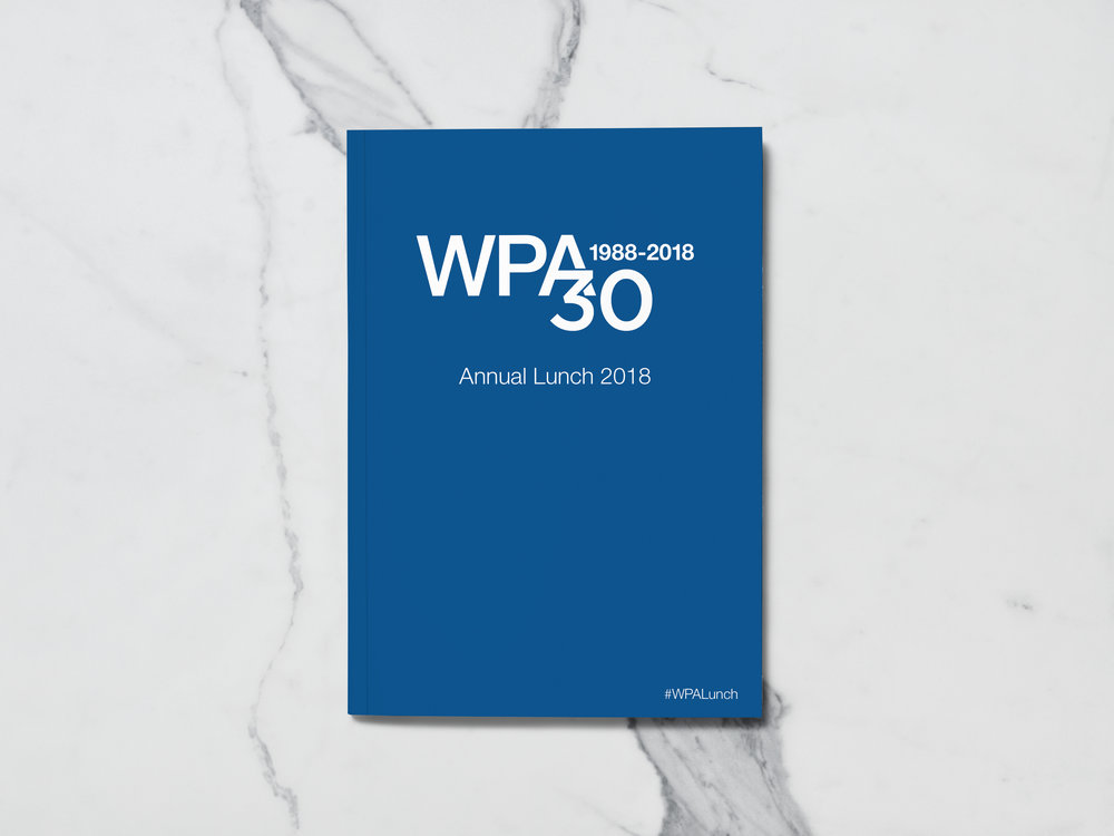 WPA Annual Lunch 2018 Brochure Cover