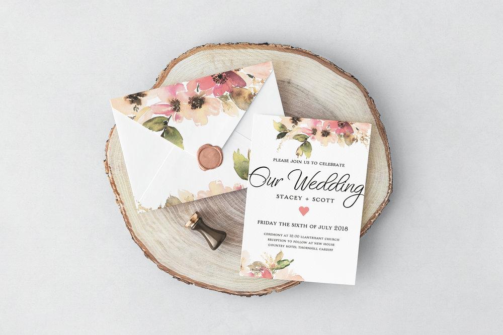 Simple Floral Wedding Design