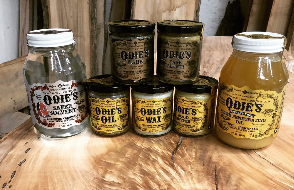 We have Odie's Oil full line up of finishing products!