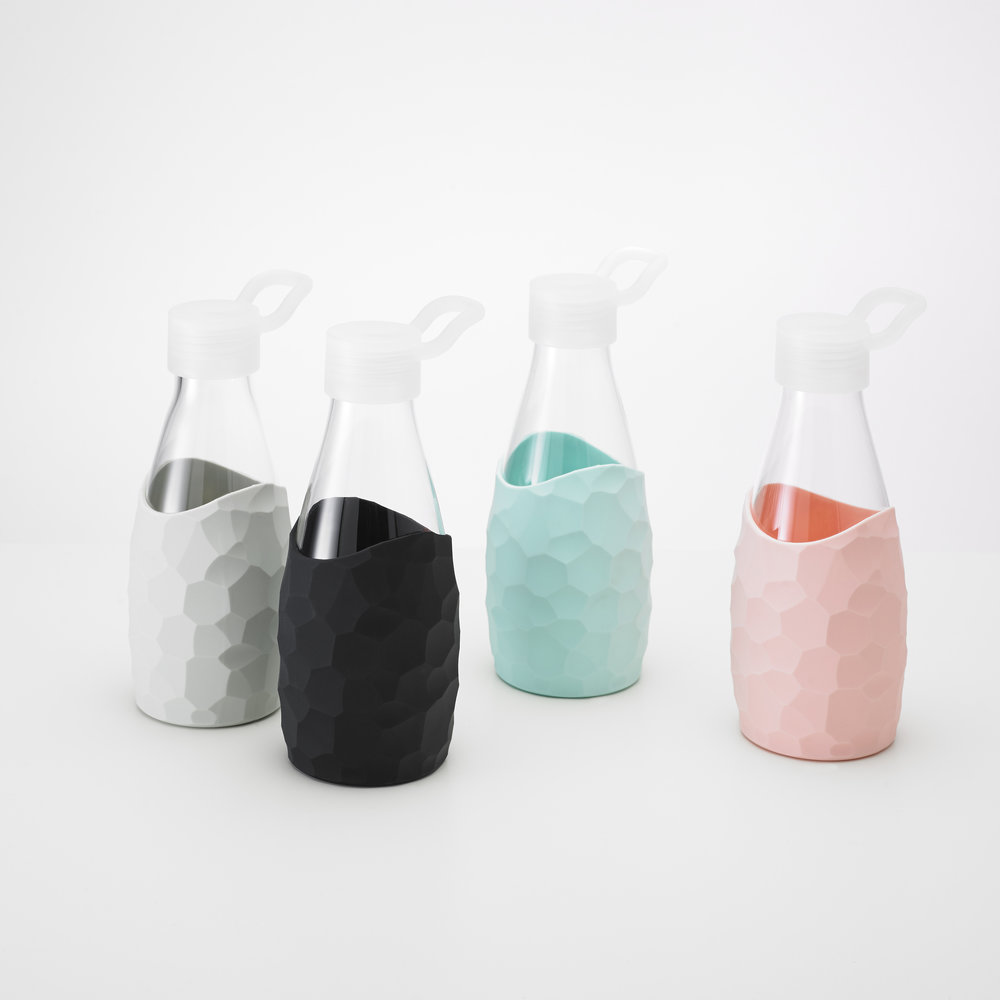 Click to Buy Our Honeycomb Water Bottle   Starting at $14.99 Colors: Light Blue, Pink. Light Grey, Black