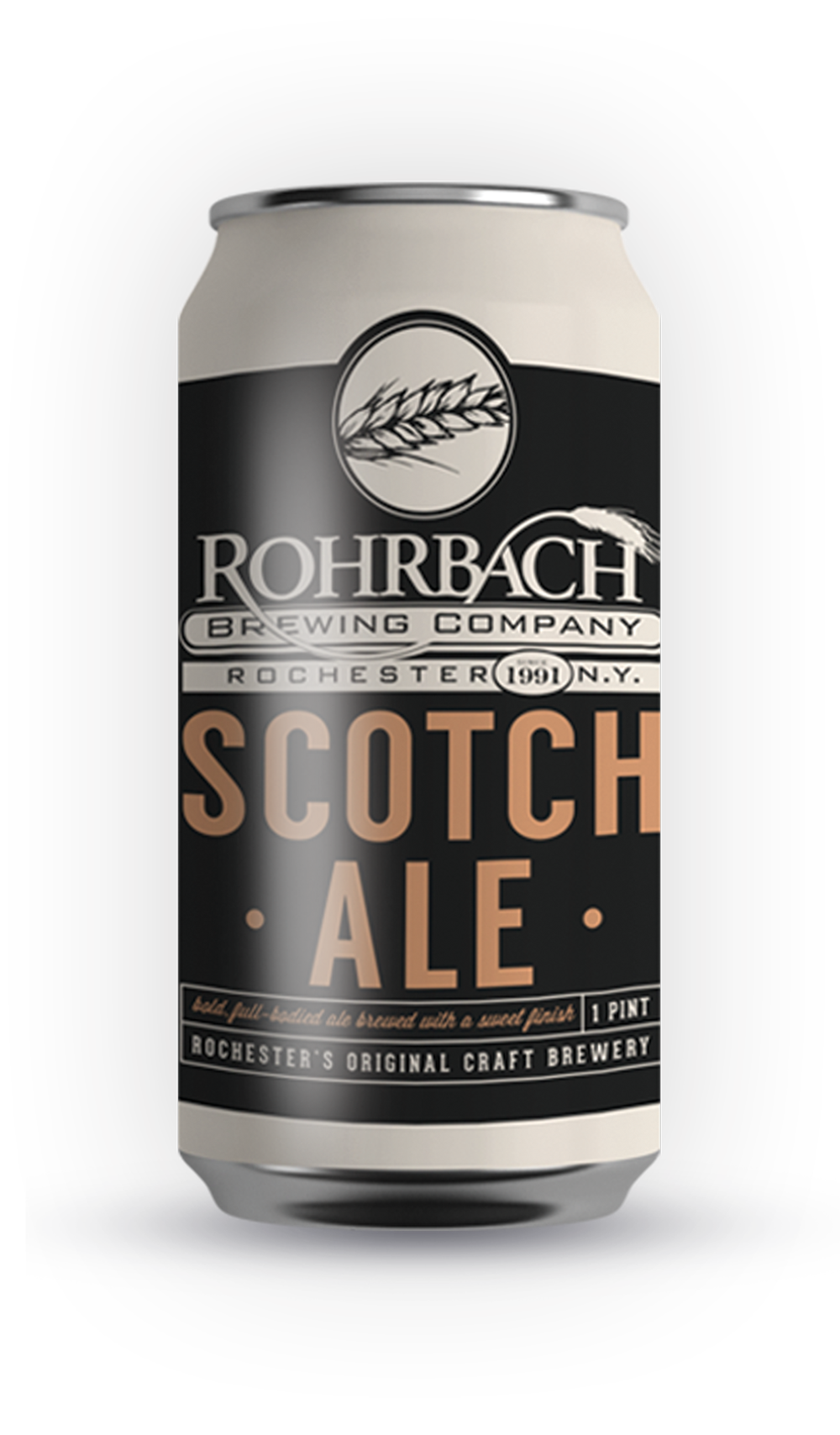 SCOTCH ALE  Our flagship brew, Rohrbach's famous Scottish-style Ale is a strong, full-bodied ale with a sweet caramel finish.  ABV 6.8% | IBU 16 | SRM 28