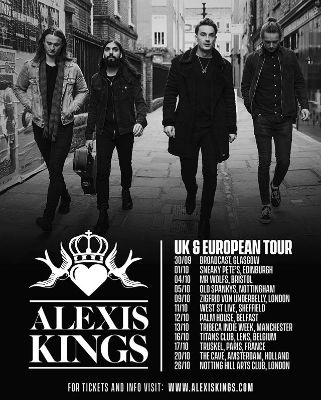 **TOUR NEWS** We're excited to announce our UK and European Tour in October! Make sure to grab tickets from our website www.alexiskings.com  The Kings 👑
